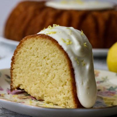 Sweet Vanilla Bundt Cake with a Zesty Lemon Icing
