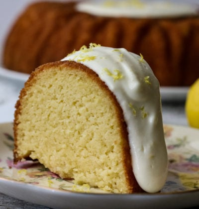 Sweet Vanilla Bundt Cake with a Zesty Lemon Icing